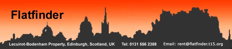 Flatfinder - Edinburgh city centre accommodation - apartment flats for lease, rental, holiday let or festival let. Professionals, students, tourists and performers welcome